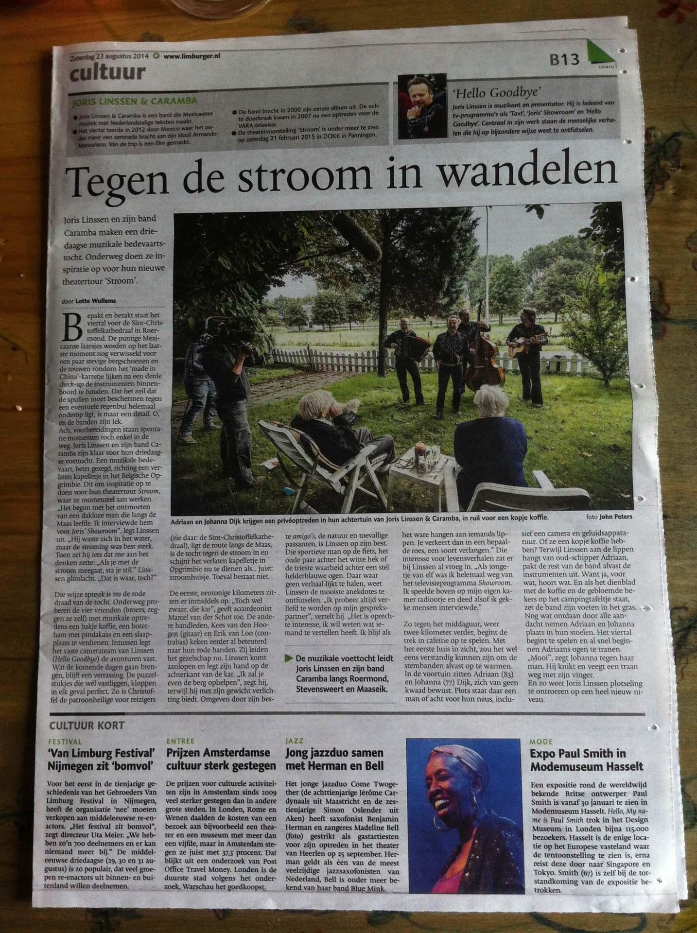 artikel Limburger over Stroom LAAG